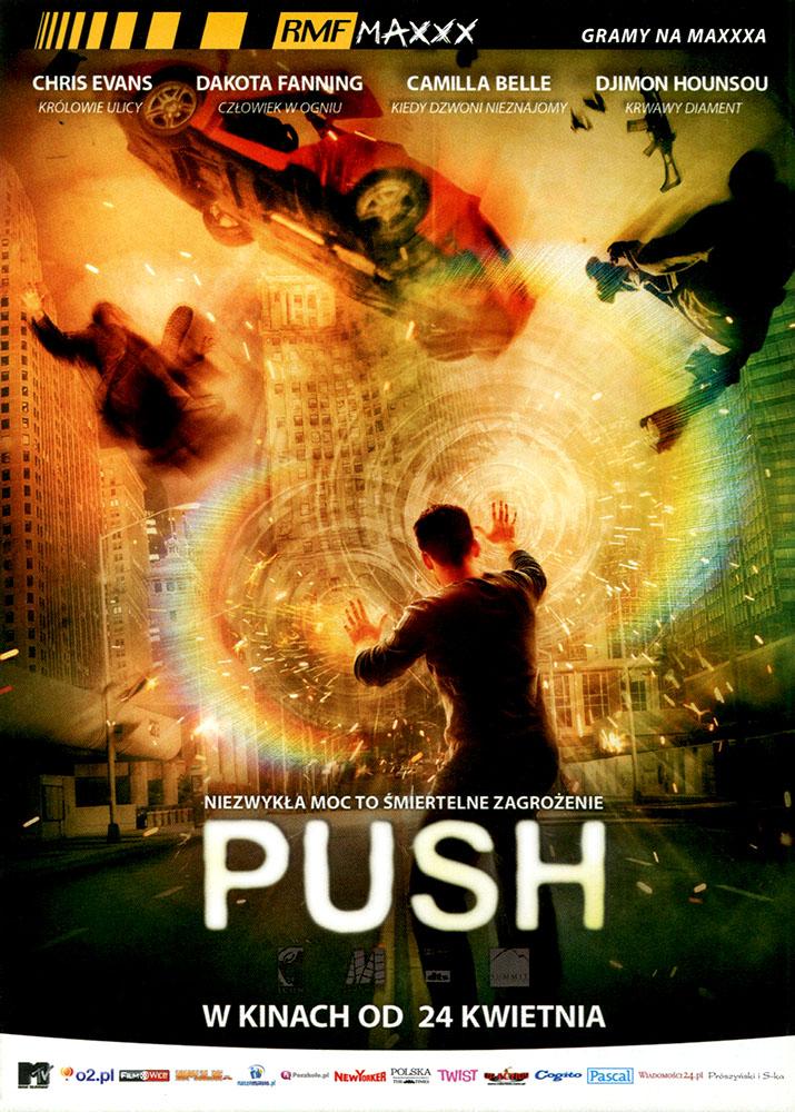 Ulotka filmu 'Push (przód)'