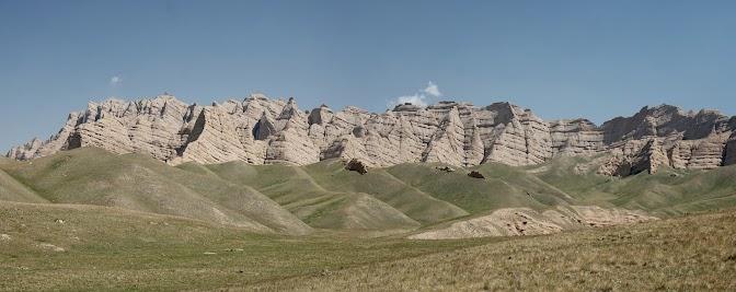 Schöne Landschaft auf dem Weg zum Kulak Pass