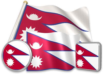 Nepali flag animated gif collection