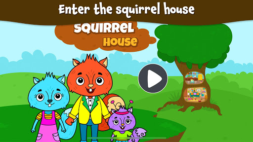 Animal Town - My Squirrel Home for Kids & Toddlers Apk 1
