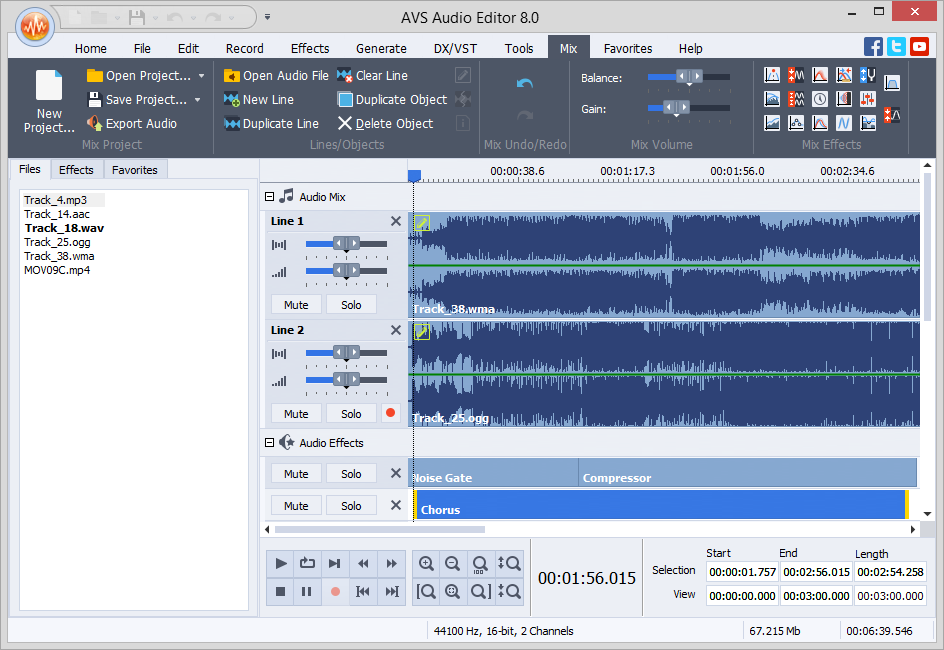 AVS Audio Editor 8.5.1.524