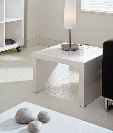 Assez Bout de canapé en bois blanc ZD87