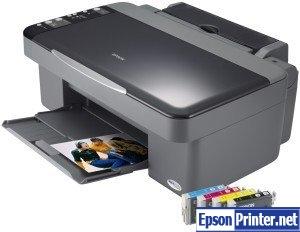 How to reset Epson DX4200 printer