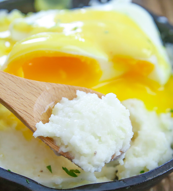 close-up photo of a spoonful of grits