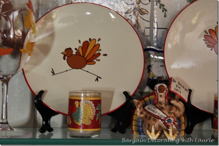 Funny Turkey Plate for Thanksgiving Decor