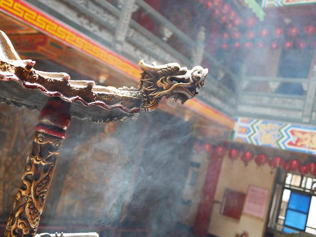 dragon head in smoke