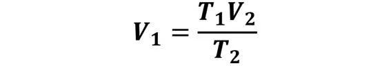 Las leyes de los gases: de boyle, de Charles, de Gay Lussac, de Avogadro y de Dalton - Despeje de la ley de Charles cuando se desconoce V1 pero se conoce V2, T1 y T2 - sdce.es - sitio de consulta escolar