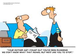 blogging cartoon