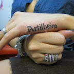 artilheiro lettering - Hand Tattoos Designs