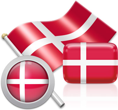 Danish flag icons pictures collection