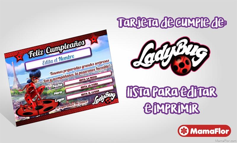 Kit-Tarjeta-Invitaciones-LadyBug-Personalizado