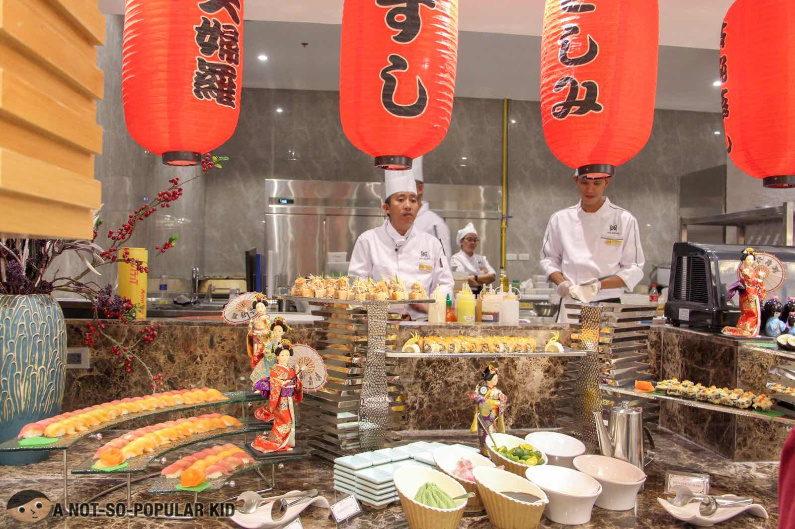 Japanese Section of Six Doors Buffet in Taguig City