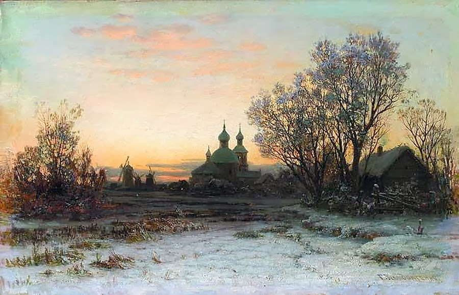 Gavril Kondratenko - Winter landscape with church