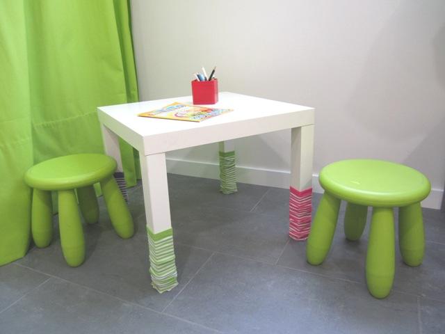 Una mesa infantil tuneada ministry of deco - Mesas de ikea para ninos ...