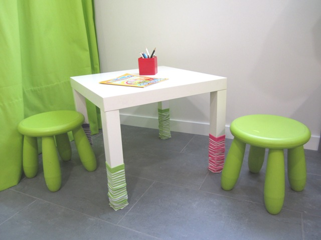 Una mesa infantil tuneada ministry of deco - Ikea mesa lack blanca ...