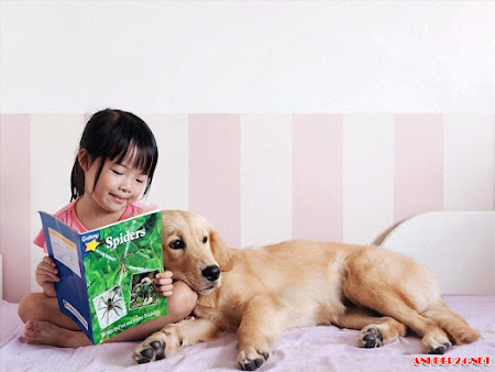 Tuyển chọn hình ảnh trẻ em nô đùa bên thú cưng dễ thương hồn nhiên đáng yêu vô cùng