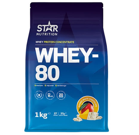 Star Nutrition Whey 80 1kg - Mango White Chocolate