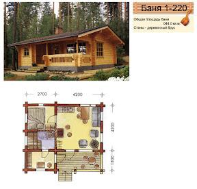 Проект бани 1 - 220