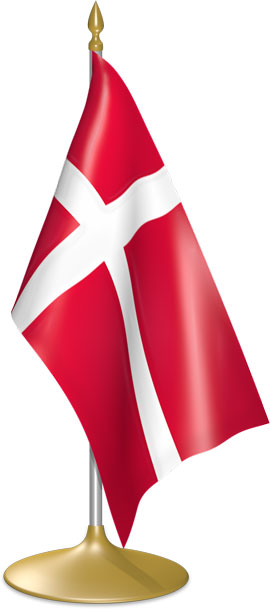 Danish table flags - desk flags