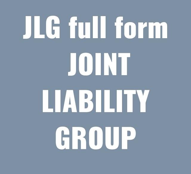 JLG Full Form