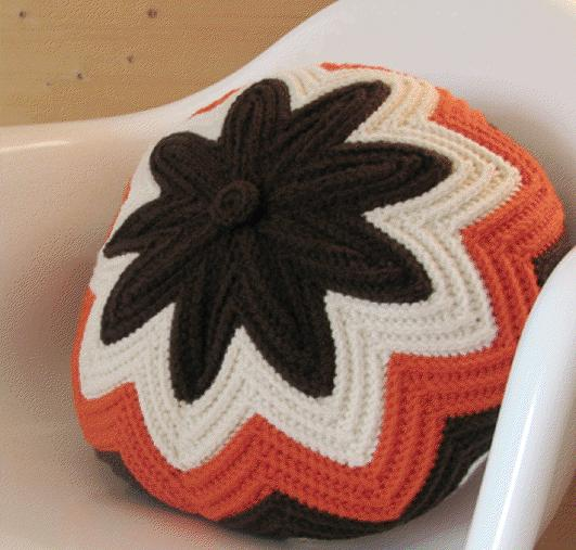 Cojines Redondos de Crochet