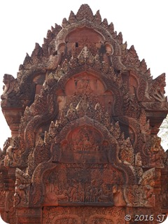 One of the stupas at Banteay Srei