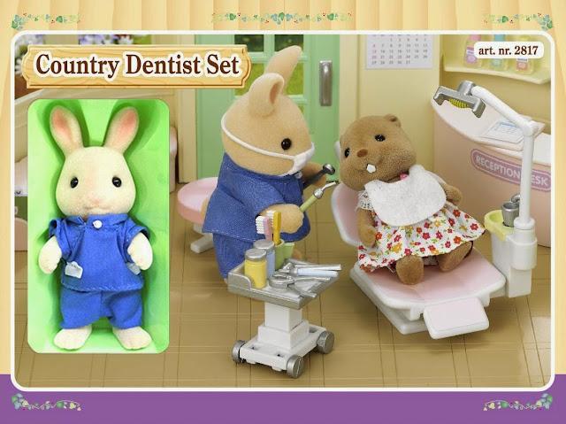Bộ đồ nha sĩ Sylvanian Country Dentist Set được làm từ chất liệu an toàn cho trẻ