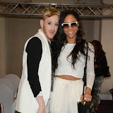 WWW.ENTSIMAGES.COM -       Lewis Duncan Weedon and Su-Elise Nash at    LFW - Fashions Finest at Grand Connaught Rooms first show, London September 14th 2014                                         Photo Mobis Photos/OIC 0203 174 1069