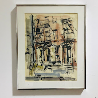 Robert Freiman Signed E. 51st St. Watercolor