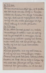 Berichten van de Britse radiouitzendingen opgetekend door een Joodse onderduiker die in 1944 aan de Everhardt van der Marckstraat in Enschede zat ondergedoken. http://www.secondworldwar.nl/enschede