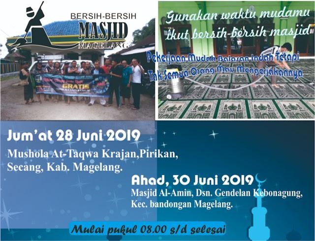 Bergabunglah dalam Kegiatan Bersih-Bersih Masjid Al Amin Gendelan, Kebonagung, Bandongan, Kabupaten Magelang