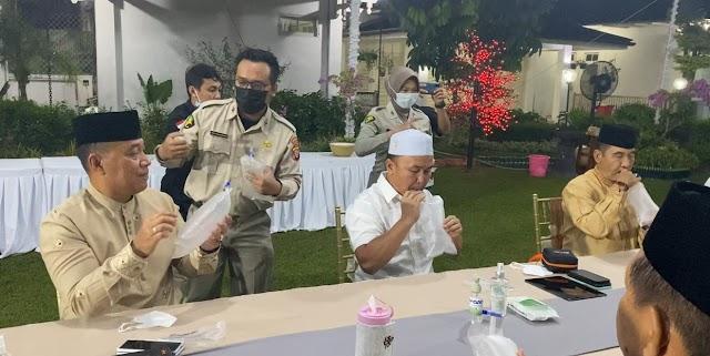 Gubernur Sugianto dan Forkopimda Coba Alat GeNose