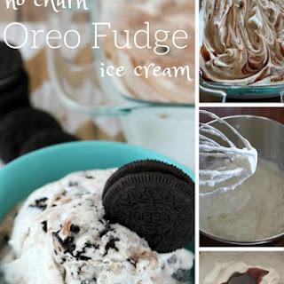Oreo Fudge Swirl No Churn Ice Cream