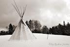 Tipi im Schnee