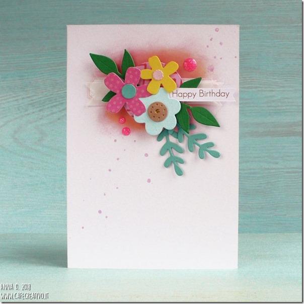 Floral banner Card