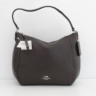 Coach NEW Chocolate Leather Shoulder Bag