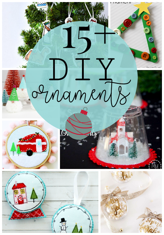 15  DIY Ornaments #Christmas #crafts #DIY