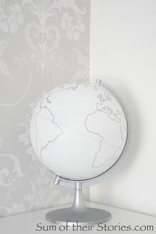 white and silver globe