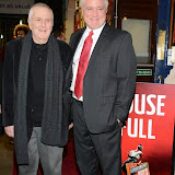 WWW.ENTSIMAGES.COM -     John Kander and David Thompson     arriving  at      The Scottsboro Boys - press night at Garrick Theatre, Charing Cross Road, London October 20th 2014Kander and Ebb's provocative musical about the true story of nine young black men falsely accused of raping two white women.                                                   Photo Mobis Photos/OIC 0203 174 1069