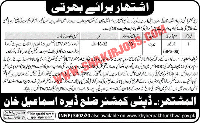 Jobs in KPK Police Jobs September 2020