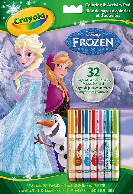 Bộ 7 bút lông mini và 32 trang tô màu Frozen cho bé tha hồ sáng tạo