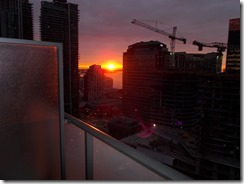 Sunrise view from apartment