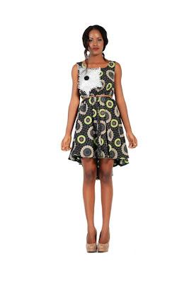 high-low ankara gown