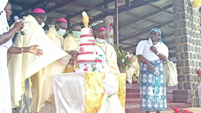 Mgr George Nkuo celebrates Ruby Jubilee, prescribes reconciliation to end crisis