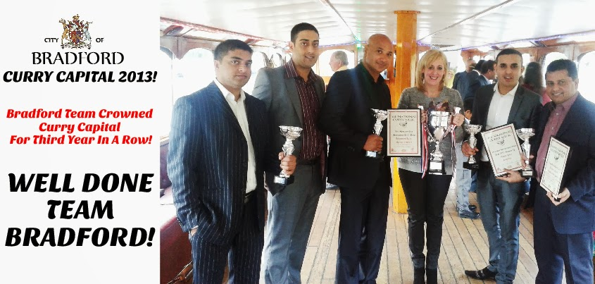Bradford Cllr and  Restaurant Team Collecti Curry Capital Reward
