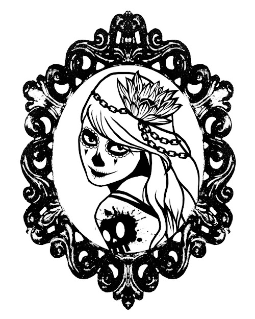 Girl Sugar Skull Coloring Pages  Google Search