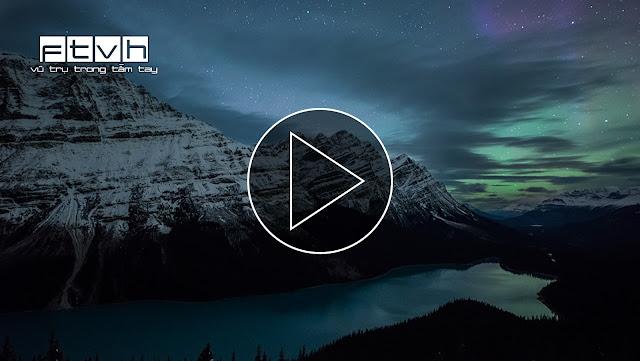 Cực quang trên bầu trời hồ Peyto ở Alberta, Canada. Tác giả: Jack Fusco.