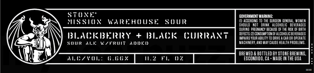 Stone Mission Warehouse Sour - Blackberry + Black Currant