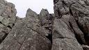 En redescendant du sommet Est de Punta Buvona