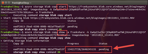 Franky's Notes: How to copy files between Azure subscription from